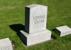 Middle Class Job Market Shrinking Due to Dwindling Public Sector