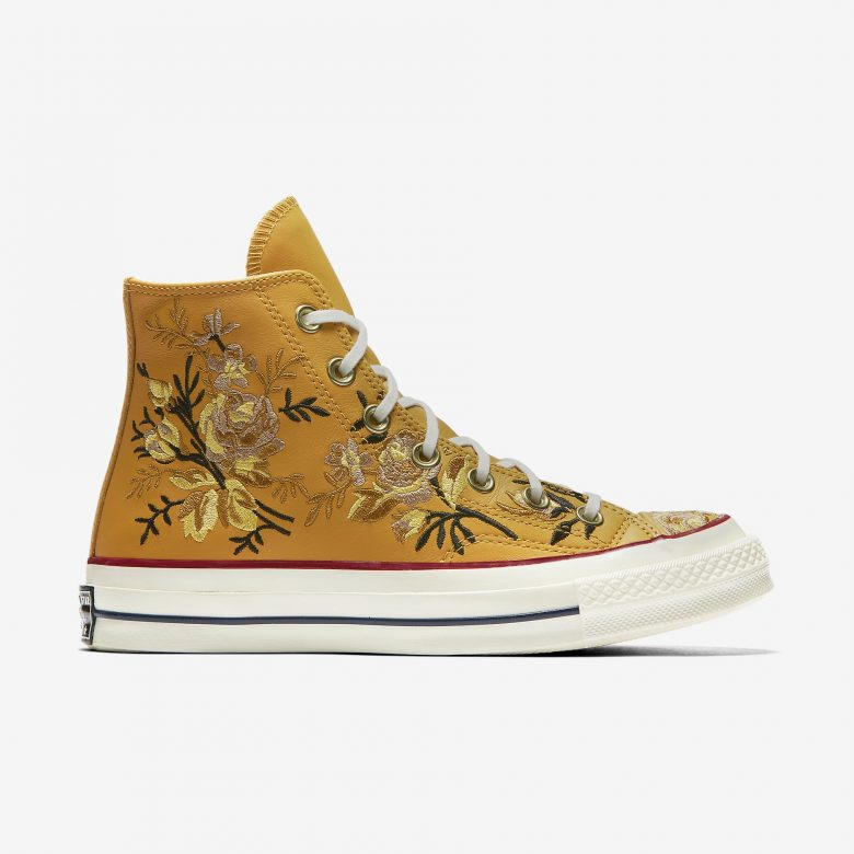 03302b60687d Converse Chuck 70 Parkway Floral High Top Gold