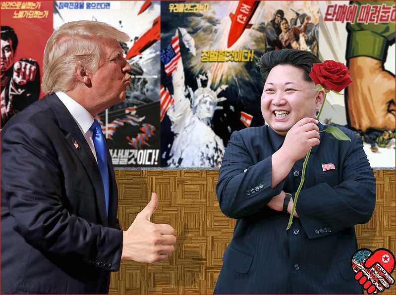 North Korean president and Trump
