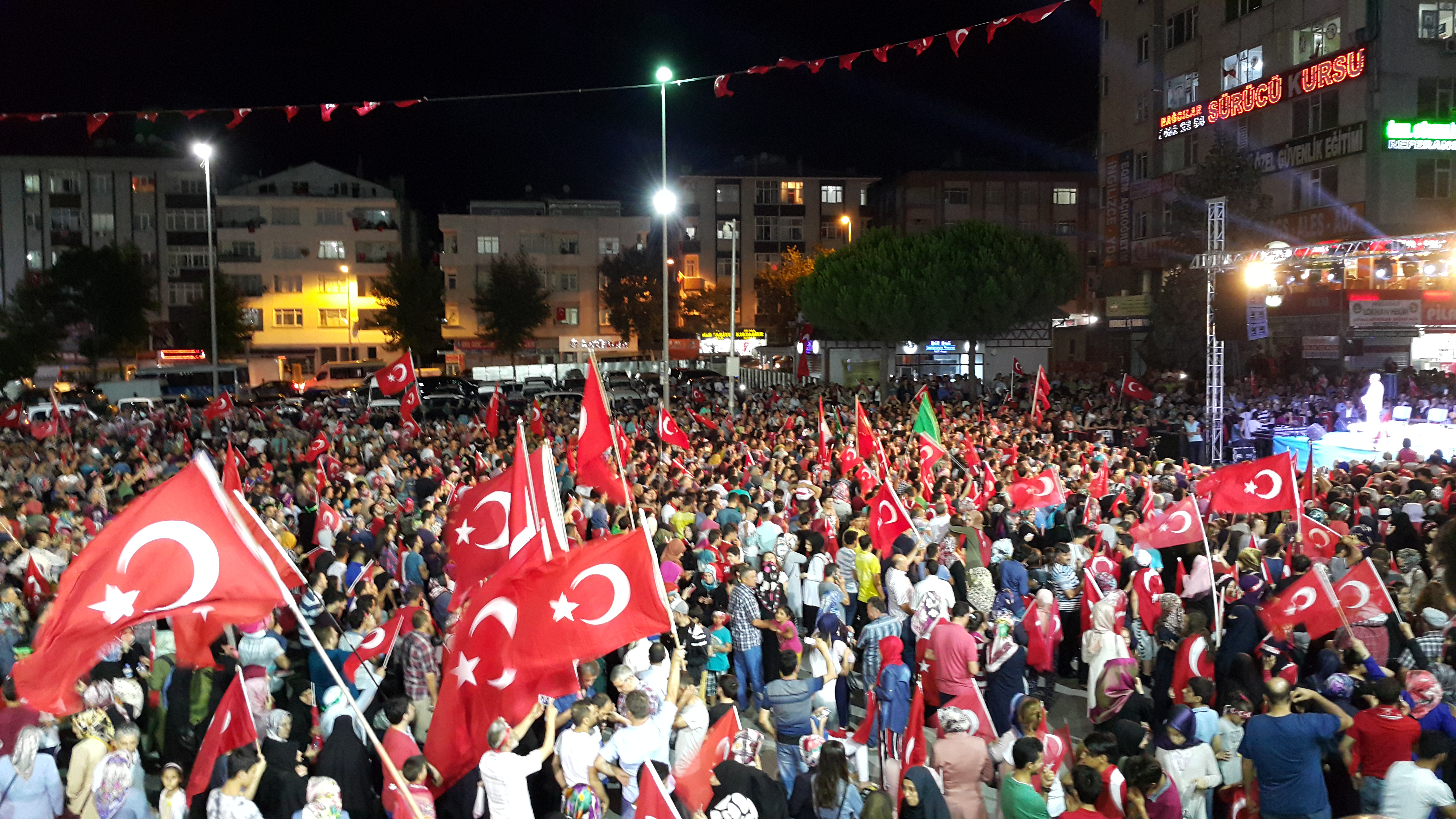 Celebrations after the failed coup in Turkey