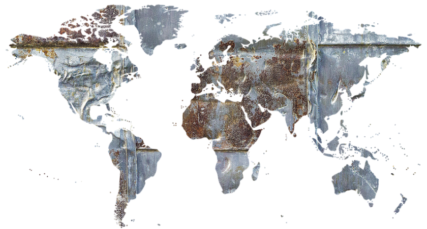 World map including Africa